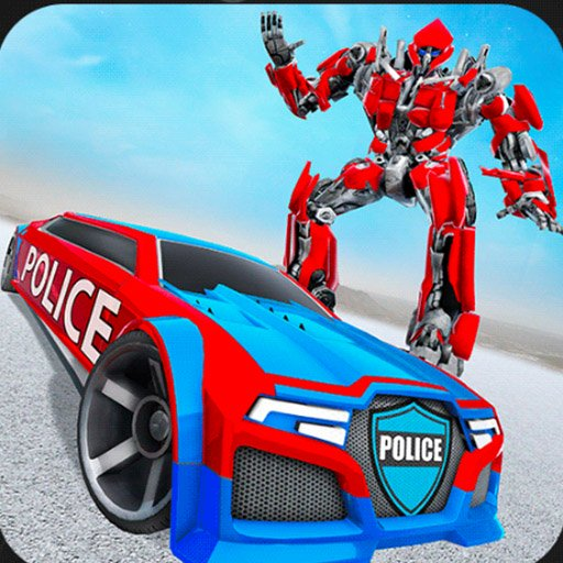 US Police Car Real Robot Transform